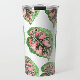 Begonia Leaf Pattern Travel Mug