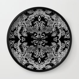 Ornament - Tree of Life - Rebirth - Mehndi Love - Black #3 Wall Clock