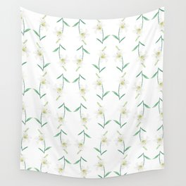 white lily watercolor Wall Tapestry