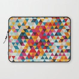 Vintage Summer Color Palette - Hipster Geometric Triangle Pattern Laptop Sleeve