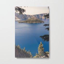Wild Blue Lake Metal Print