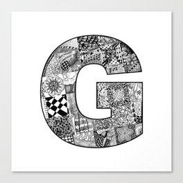 Cutout Letter G Canvas Print