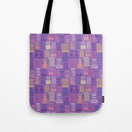 Paris Windows - Purple Tote Bag