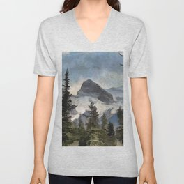 The Three Sisters - Canadian Rocky Mountains Unisex V-Neck