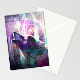 Psychedelic Trippy Wolf Stationery Cards
