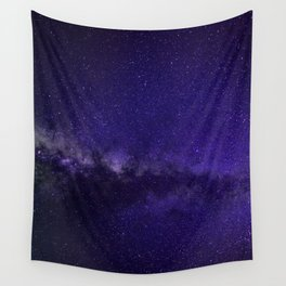 Galaxy, Space, Stars, Blue, Pink, Abstract, Nature, Art, Modern, Wall art Print Wall Tapestry