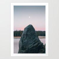 Lunar Stone Art Print