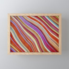 Wild Wavy Lines 13 Framed Mini Art Print
