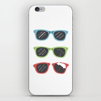 sunglasses iPhone & iPod Skins featuring Sunglasses by Things and Other Things