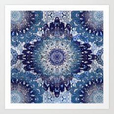 Indigo Lace Mandalas Art Print