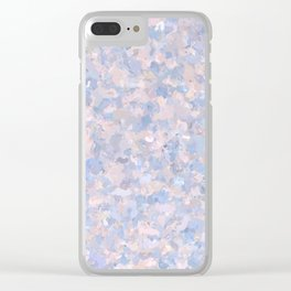 Light pink and blue popcorn 4647 Clear iPhone Case