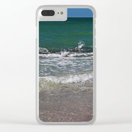 Bubbling with Intrigue Clear iPhone Case