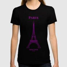 Paris Womens Fitted Tee MEDIUM Black