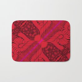 Diagonal Abstract Psychedelic Doodle 8 Bath Mat