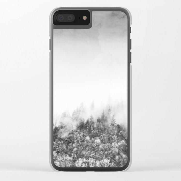 Monochromatic Landscape Clear iPhone Case