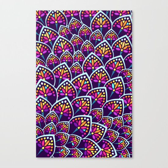 Madeleine Pattern Canvas Print