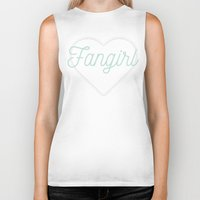 fangirl Biker Tanks featuring Fangirl by LIRIOPE