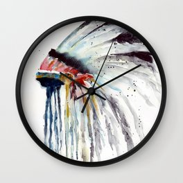 Indian Headress Wall Clock