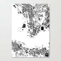 hong kong Canvas Prints featuring Hong Kong by Maps Factory