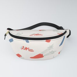 Minimal retro pattern with carrot&celery Fanny Pack