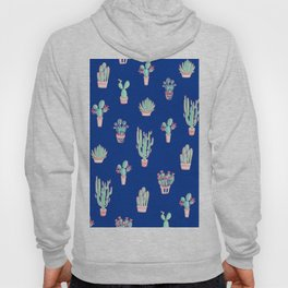 Little cactus pattern - Princess Blue Hoody