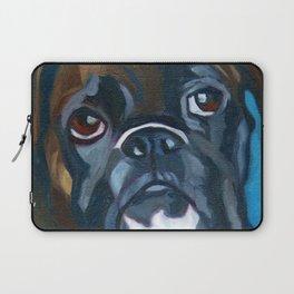 Boxer Lil E Dog Portrait Laptop Sleeve