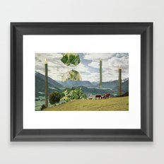 Grand Lettuce Alignment Framed Art Print