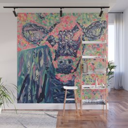 Moo-ve over winter- Cow Wall Mural