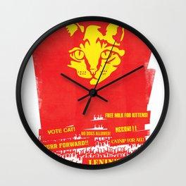 Lenin's Cat Wall Clock