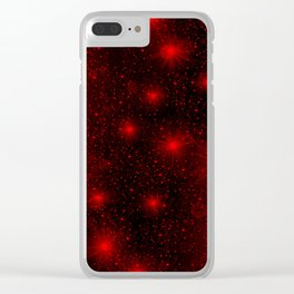 small red hearts and stars Clear iPhone Case