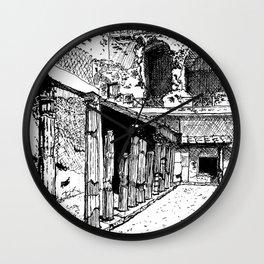 Herculaneum Courtyard Wall Clock