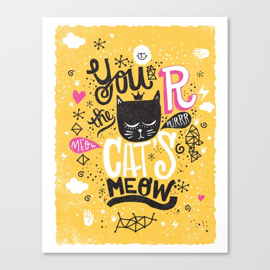CAT'S MEOW Canvas Print