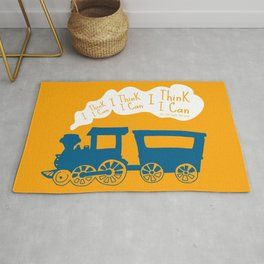 I Think I Can, I Think I Can, I Think I Can - The Little Engine that Could inspired Print Rug