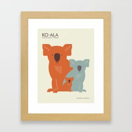 Koalas Framed Art Print