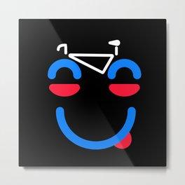Bicycle Face Cyclist Saying Cyclist Metal Print