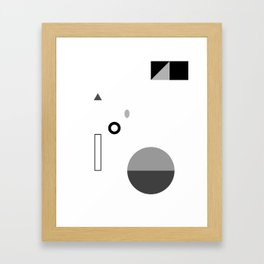 Fête No. 3 Geometric Monochrome Framed Art Print