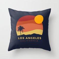 Los Angeles Sunset Throw Pillow
