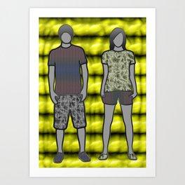 GIRL AND BOY Art Print