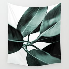 Minimal Rubber Plant Wall Tapestry