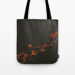 Campfire Flame Tote Bag