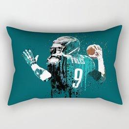 Sports art _ Nick Foles on green Rectangular Pillow