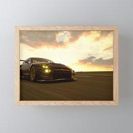 japanese racing car skyline gtr gt3 dramatic sky  Framed Mini Art Print