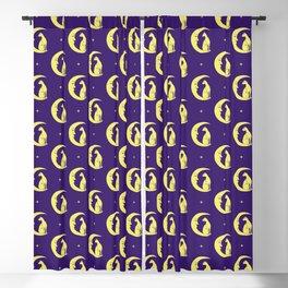 Moon Cat Purple (Pattern) Blackout Curtain