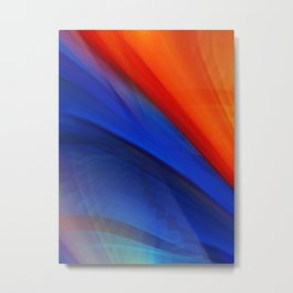 Bright orange and blue Metal Print