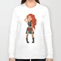 pixar Long Sleeve T-shirts featuring Modern AU: Merida by Anoosha Syed