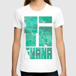Tijuana City Map of Mexico - Watercolor T-shirt