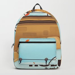 Holland Bicycle travel poster Backpack