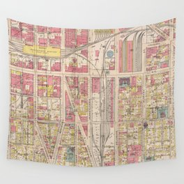 Vintage Map of Indianapolis Indiana (1916) Wall Tapestry