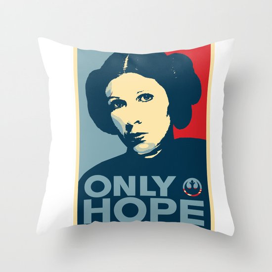 Leia's Only Hope Throw Pillow