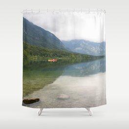 Kayaking on Lake Bohinj Shower Curtain